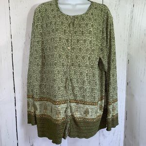 DRESS BARN Women's Cardigan size 1X  Olive Green